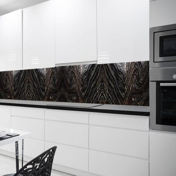 kuchenna fototapeta czarna