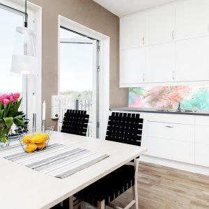 fototapeta kuchenna w pastelowych kolorach