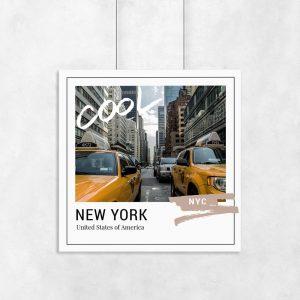 plakat nowojorska ulica