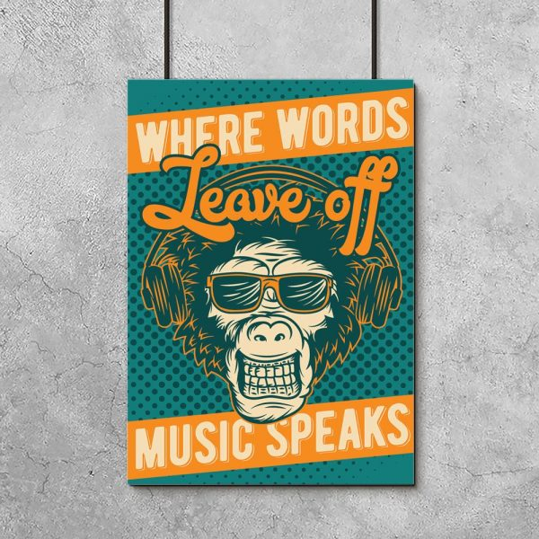 plakat where music leave off