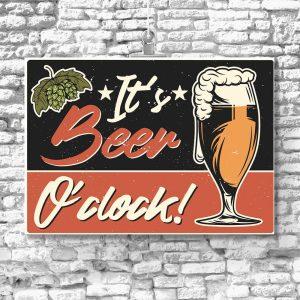 plakat z motywem piwa