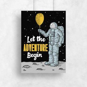 plakat let the adventure begin