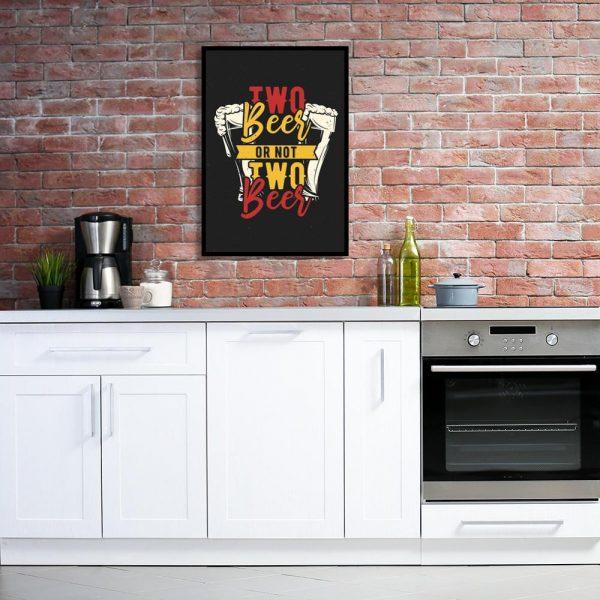 plakat do kuchni z przewagą kolor żółtego i czerwonego