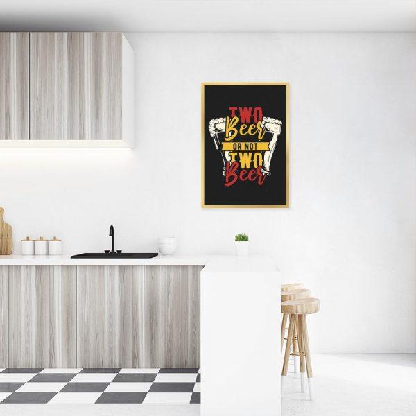 wielokolorowy plakat do kuchni