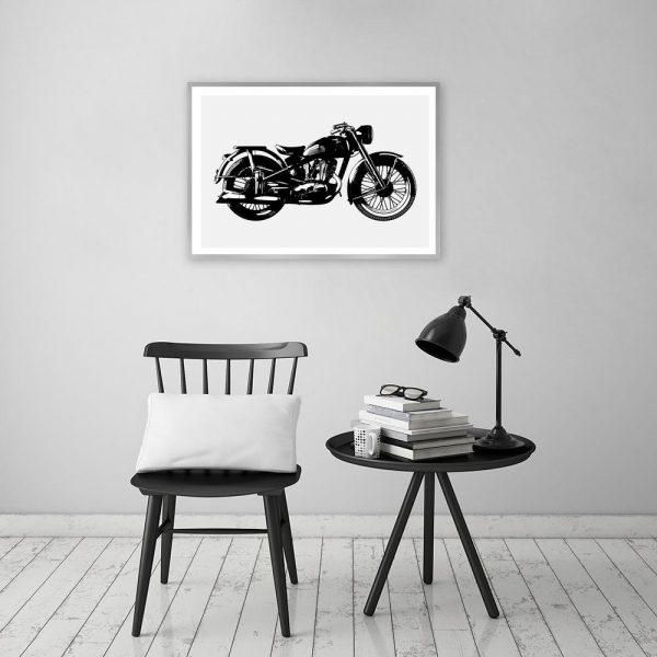 plakat z motocyklem do gabinetu