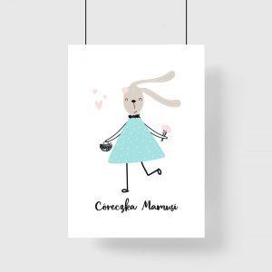 plakat z królikiem
