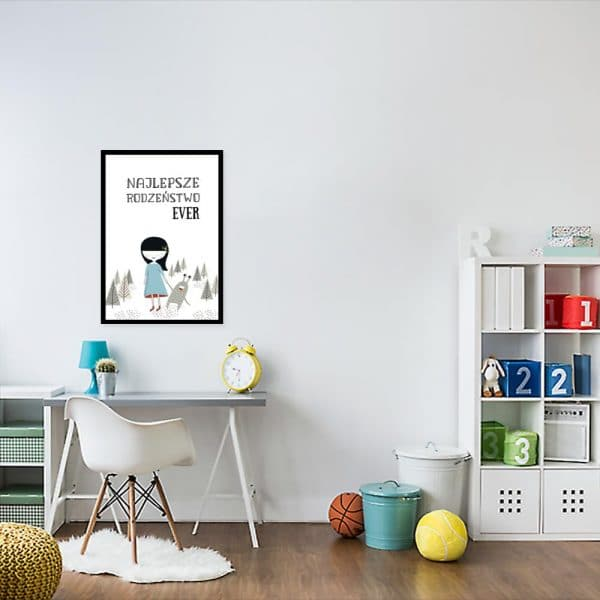 plakat z motywem kosmity do pokoju dziecka