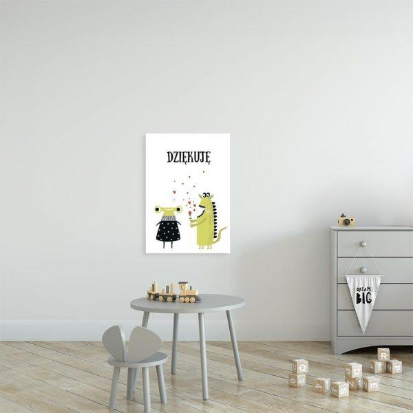 plakat z motywem potworków do pokoju dziecka