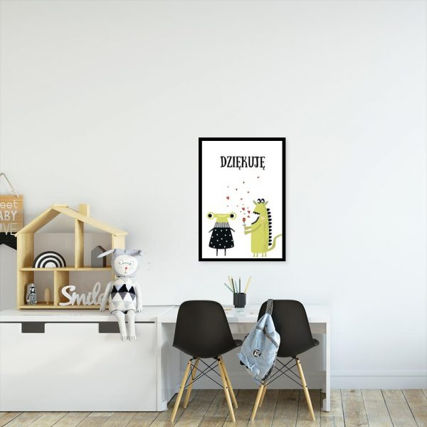 plakat z dwoma potworkami na ścianę pokoju dziecka