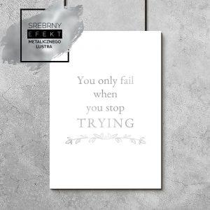 motywacyjny plakat w kolorze srebra