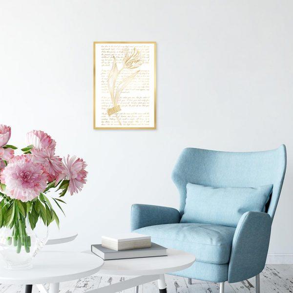 plakat z motywem tulipana