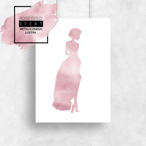 plakat metaliczny elegancka kobieta