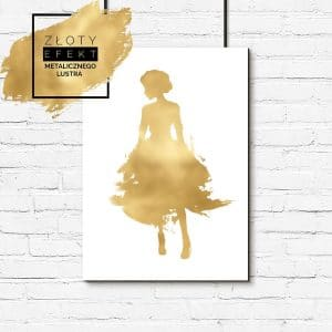 pozłacany plakat modna kobieta
