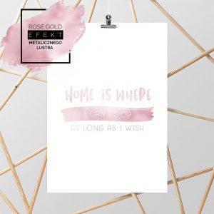 różowo-złoty plakat z napisem