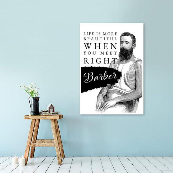 plakat z motywem napisu dla barbera