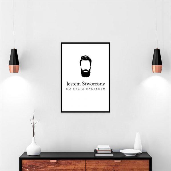 plakat z brodą do salonu barberskiego