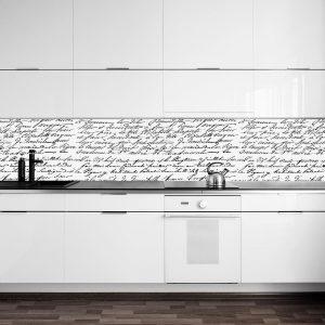 fototapeta do kuchni z napisami