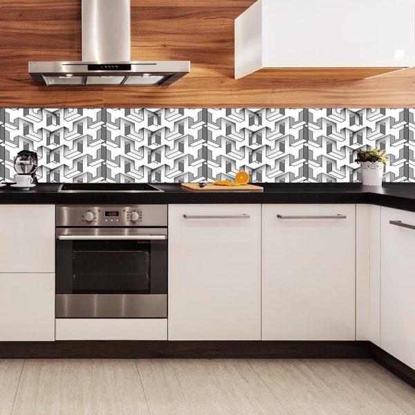 fototapeta kuchenna z ciekawym wzorem