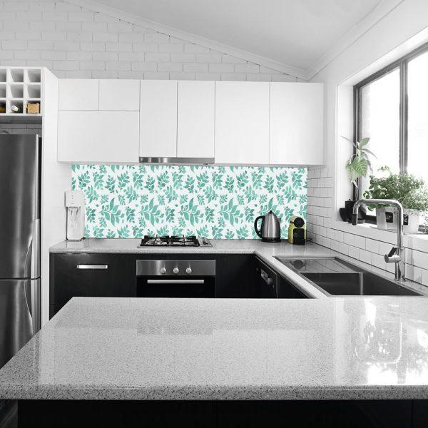 fototapeta przedstawiająca liście do kuchni