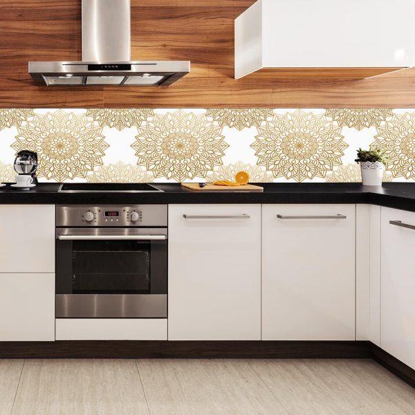 fototapeta z pięknym wzorem do kuchni
