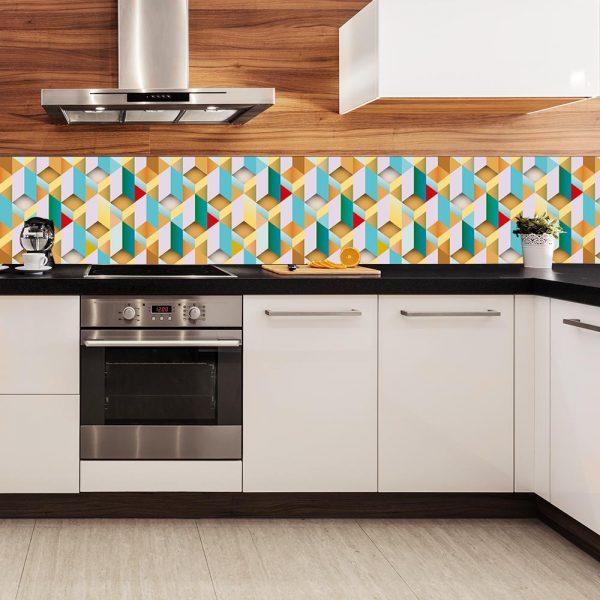 fototapeta z kolorową układanką do kuchni