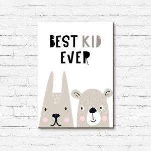 obraz dziecięcy z napisem Best kid ever