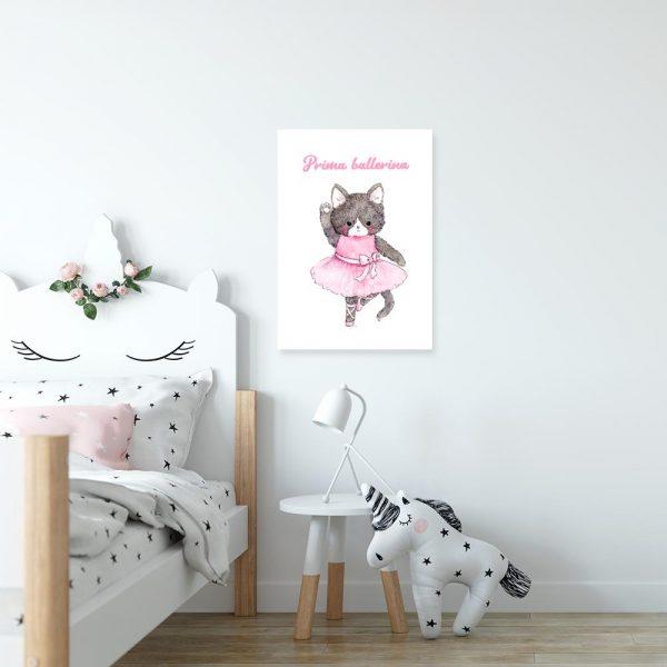 obraz z motywem kota do pokoju dziecka