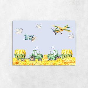 obraz dla dziecka z traktorami
