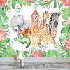 fototapeta dziecięca z motywem zwierząt z dżungli