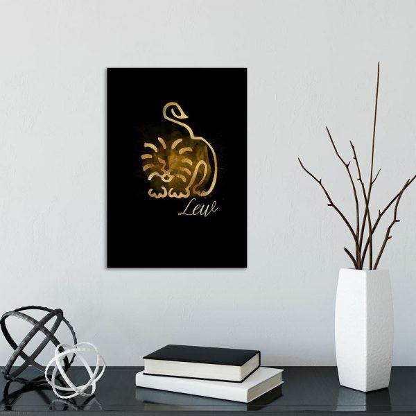motyw lwa na obrazie do salonu