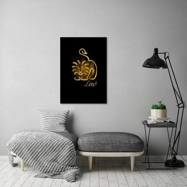 lew jako dekoracja na ścianę