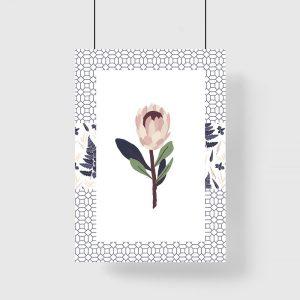 kwiatek na plakacie
