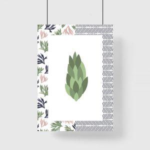 plakat z roślinką