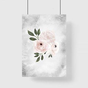 pionowa dekoracja z różami
