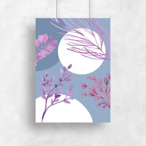 odcienie fioletu i granatu na plakacie
