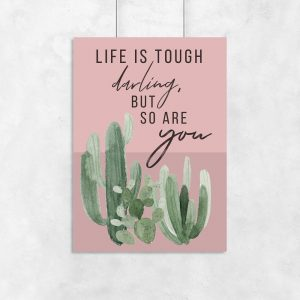 motyw kaktusa na plakacie