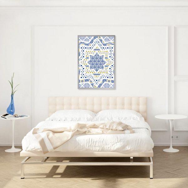 motyw plakatu nad łóżko