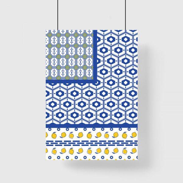 dekoracja niebiesko-żółta