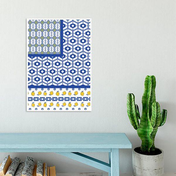 niebiesko-żółta dekoracja