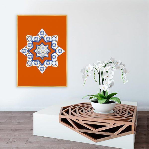 pomarańczowy wzór