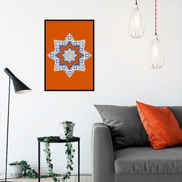 gwiazda jako dekoracja plakatu