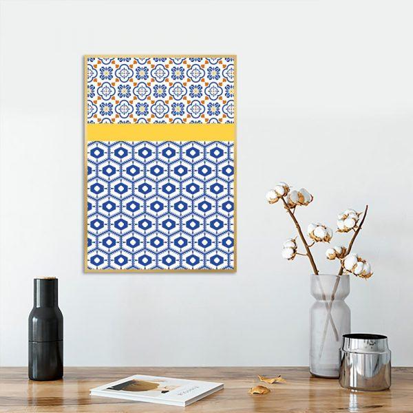 wzorzysty plakat do salonu