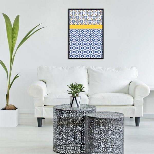 plakat nad sofę z wzorami