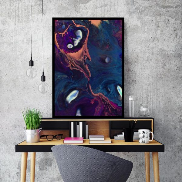 kolorowa abstrakcja jako plakat
