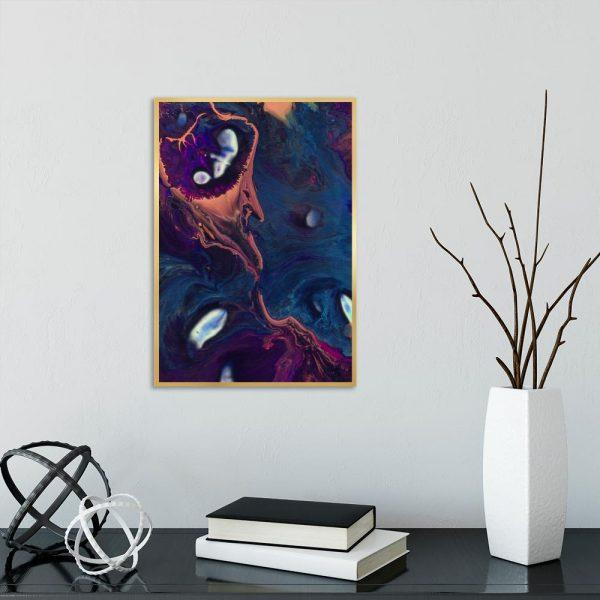 motyw rozlanych farb jako dekoracja
