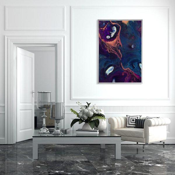 dekoracja w stylu rozlanych farb