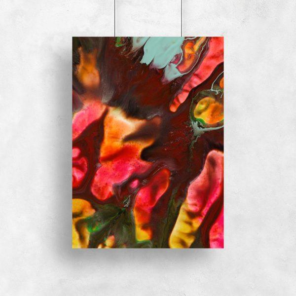 eksplozja kolorów na abstrakcyjnym plakacie