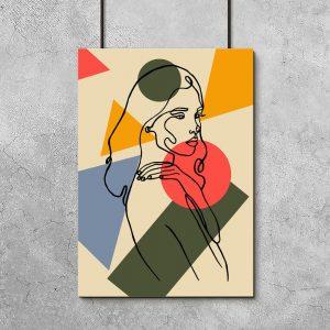 kolorowa kobieta jako dekoracja