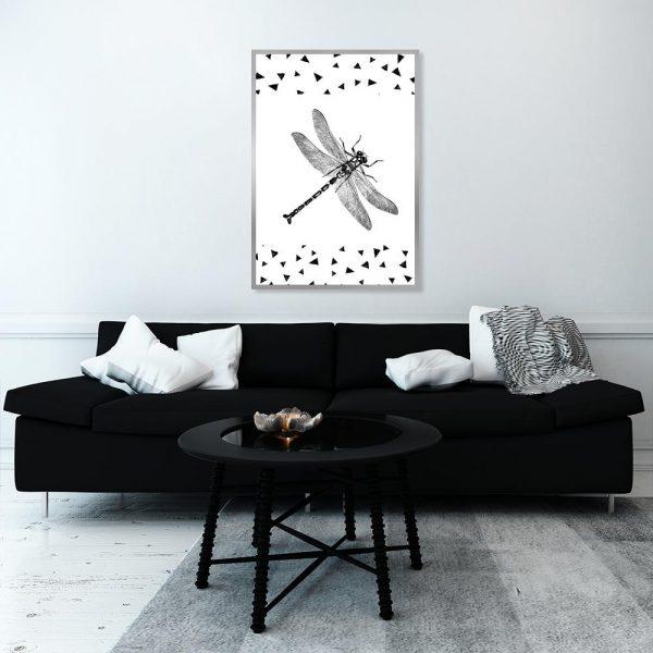 ważka jako dekoracja pokoju