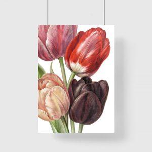 pionowa dekoracja z kwiatami